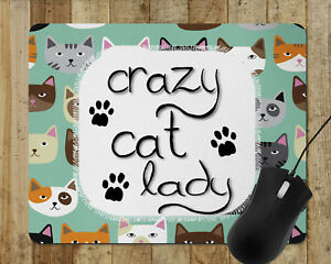 Detalles Acerca De Funny Mouse Pad Crazy Gato Dama Computadora Mouse Pad Hogar Decoración Alfombrillas Para El Ratón 04a Mostrar Título Original