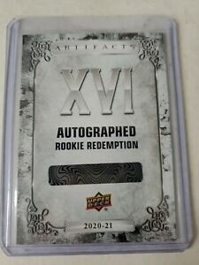 2020-21 UPPER DECK ARTIFACTS **CARD NO XVI** AUTOGRAPHED ROOKIE REDEMPTION