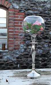 glasaufsatz f r kerzenleuchter rosebowl rosenschale windlicht kugel. Black Bedroom Furniture Sets. Home Design Ideas