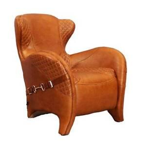 designsessel whitehorse leder columbia brown hellbraun vintage m bel ledersessel ebay. Black Bedroom Furniture Sets. Home Design Ideas