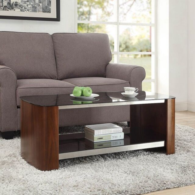 Jual Furnishings JF311 Melbourne Retro Chrome & Walnut Coffee Table