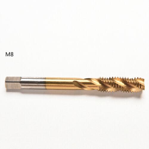 M3 M4 M5 M6 M8 High Speed Steel HSS Screw Thread Metric Spiral Hand Plug Tap HI
