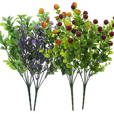 Kunstpflanze Deko Zweig Floristik Beiwerk Eukalyptus Beerenzweig Dekoration Neu