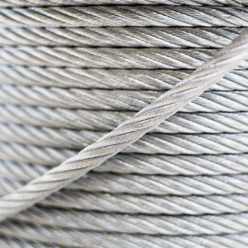 10m câble 6mm acier zingué EN 12385-4 6x7+FC