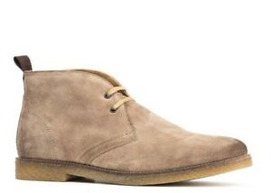 Base-London-Beige-Boots-Perry-Suede-Leather-Lace-Up-Chelsea-Ankle-Mens-12-46