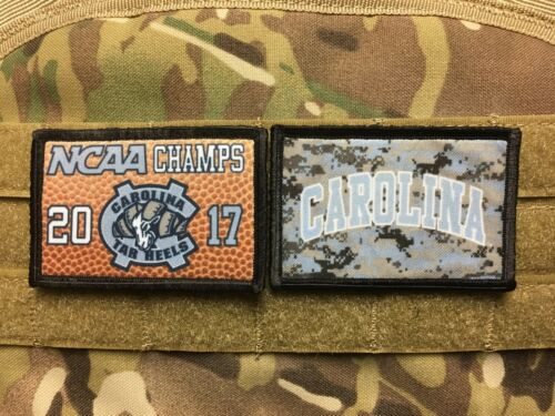 UNC Chapel Hill Tar Heels 2 PATCH COMBO Morale Patch Military Tactical Army