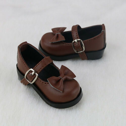 MSD brown bow flat Shoes 1//4 BJD Shoes Dollfie DREAM Dollmore AF AOD DZ MID SOOM