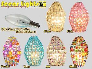 Kronleuchter Glühbirne ~ Kronleuchter glasperle glühbirne lampe art déco kerze schirm deckel