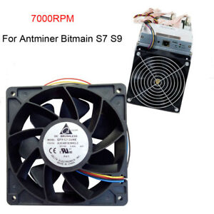 7500RPM-Cooling-Fan-Replacement-4-pin-Connector-For-Antminer-Bitmain-S7-S9-USA