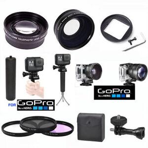 Details about GOPRO HERO5 BLACK WIDE ANGLE LENS+TELEPHOTO ZOOM LENS +3  FILTER KIT + SPORT GRIP