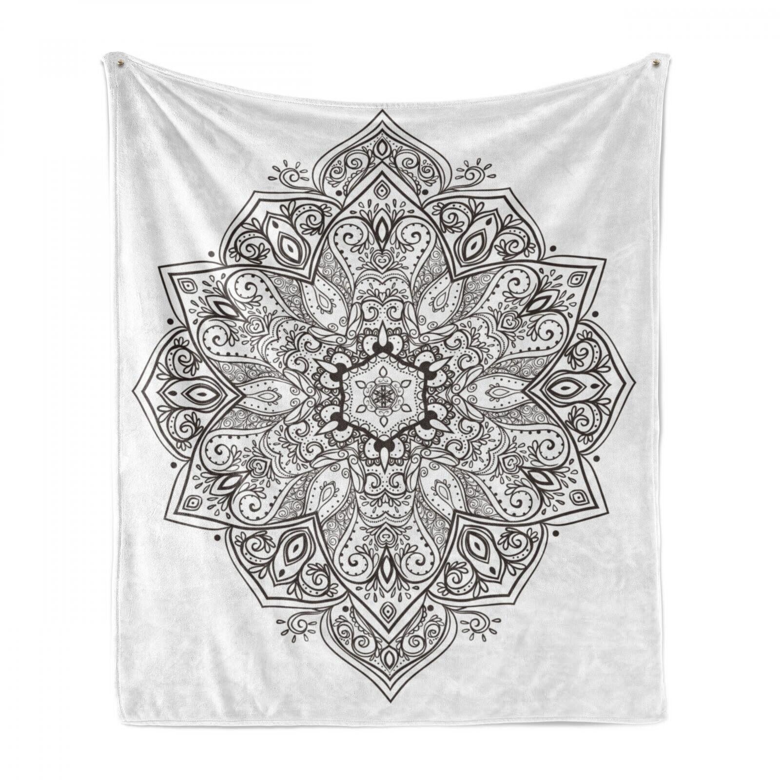 MANDALA Soft Flannel Fleece Blanket Eastern Psychedelic