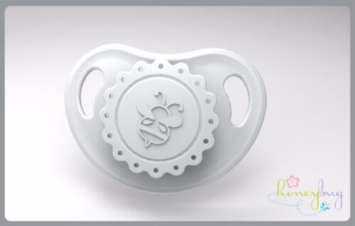 Honeybug VINTAGE Magnetic Pacifier reborn art doll baby newborn SILVER CLOUD