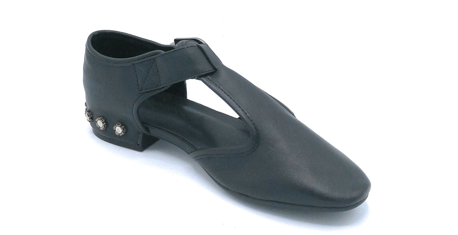 Rebecca 701 chaussure faible cuir noir ouvert côté avec fib fib fib 0252b8