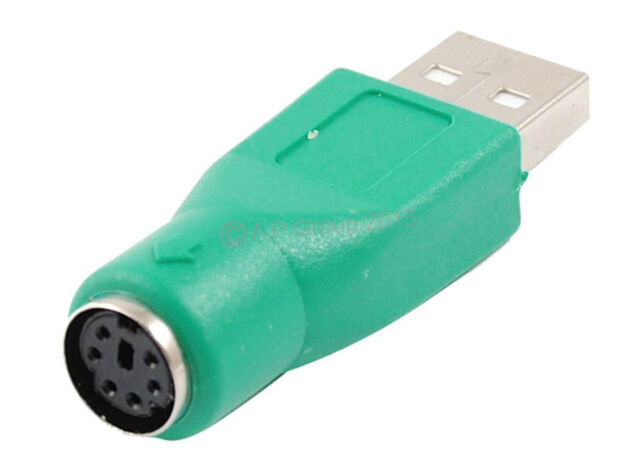 PS2 PS/2 Female to USB Male MOUSE / KEYBOARD ADAPTER CONVERTER