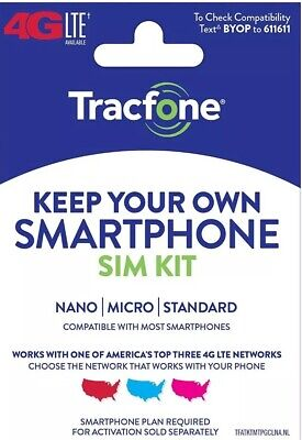 Tracfone Or Safelink Bring Your Own Phone Sim Kit Triple Cut