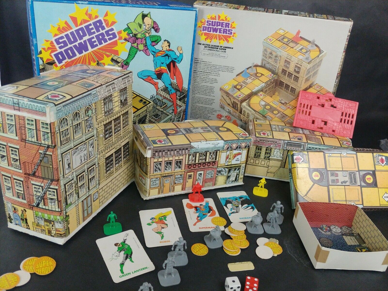 Super energias The Justice League America  cieloscraper Caper 3 Dimensional VTG gioco  promozioni