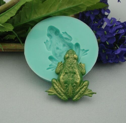 Resin Jewelry Silicone Mold Large Frog Flexible for Crafts Polymer Clay.