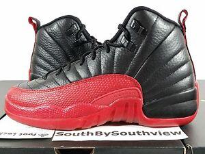 d7f1864afffc Nike Air Jordan 12 Flu Game Bred 2016 XII Retro Black Red Flue GS ...