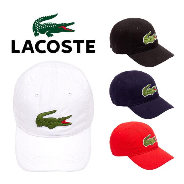 dfc16f37f3 Lacoste Men's Cotton Embroidered Big Croc Logo Adjustable Hat Cap