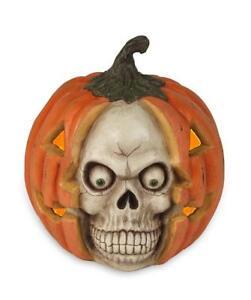 Skullkin Scary Halloween Pumpkin W Skull Face Small Bethany Lowe Td7644 Ebay