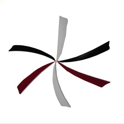 "36,50,100 4/"" Shield Shape Fletching Turkey Feather Right wing Arrows DIY Vanes"