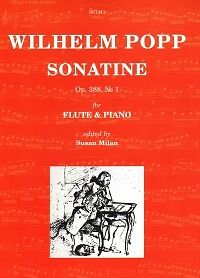 Amiable Popp Sonatine Op388 No 1 Flute & Piano Ed Milan Musical Instruments & Gear