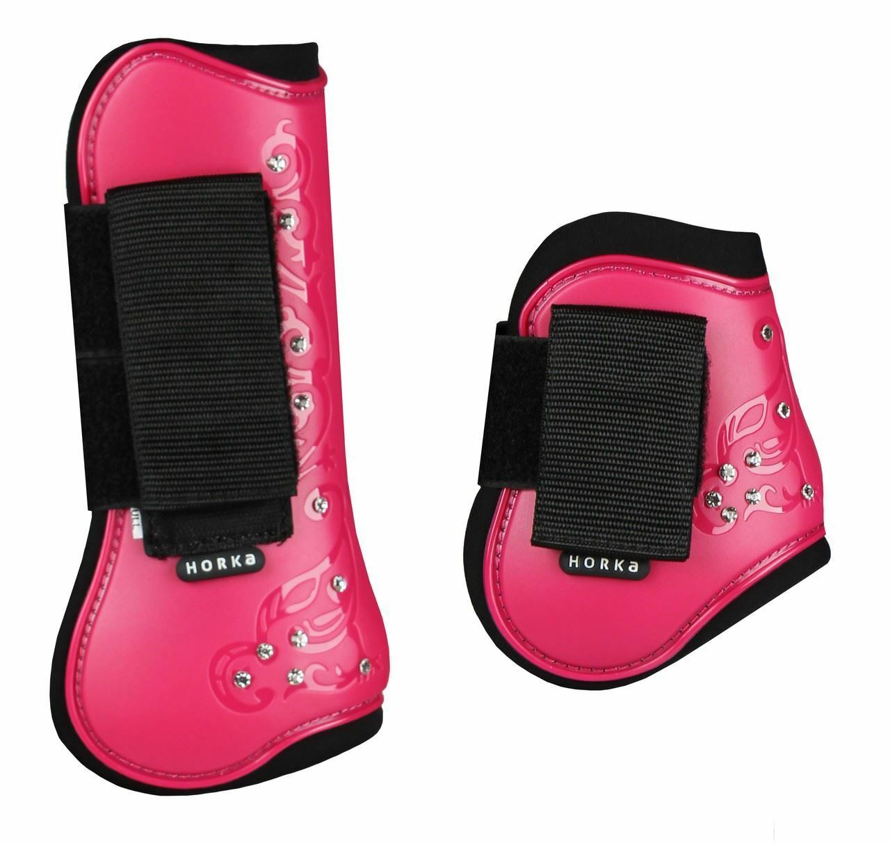 Horka Royal Crystal Horse Riding Equestrian Predection Patterned Tendon Boots