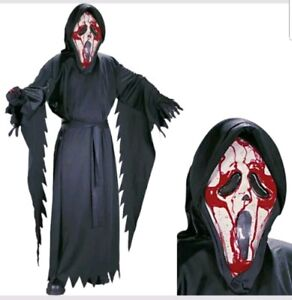 Chid Scream Scre4m Scary BLEEDING GHOST Face® Halloween Costume
