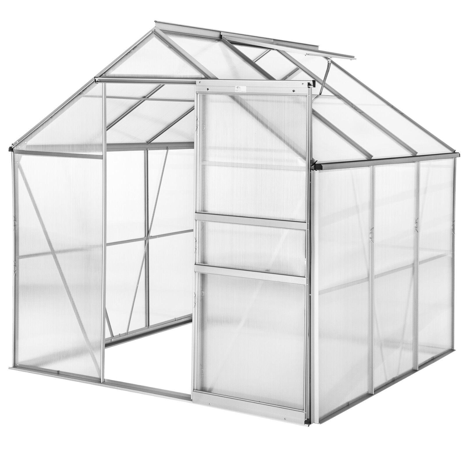 Grünhouse polycarbonate aluminium grow plants growhouse garden structure 5.85m³