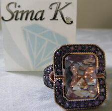 SIMA K Rose de France & Purple Amethyst Rose Gold Vermeil  Ring Sz 9