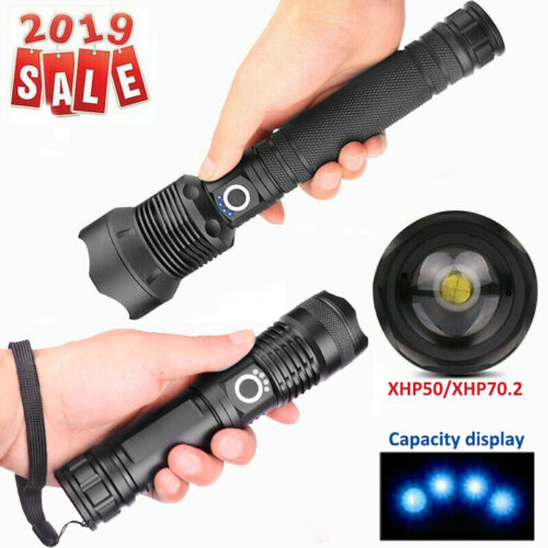 900000LM XHP70.2 //XHP50 LED Rechargeable High Power Torch Flashlight Lamps Light