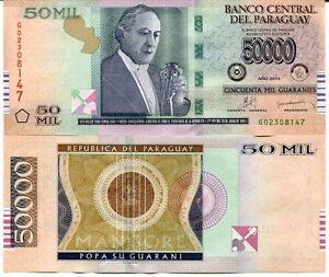 Guaranies 2013 P-232 Unc Paraguay 50000 50,000