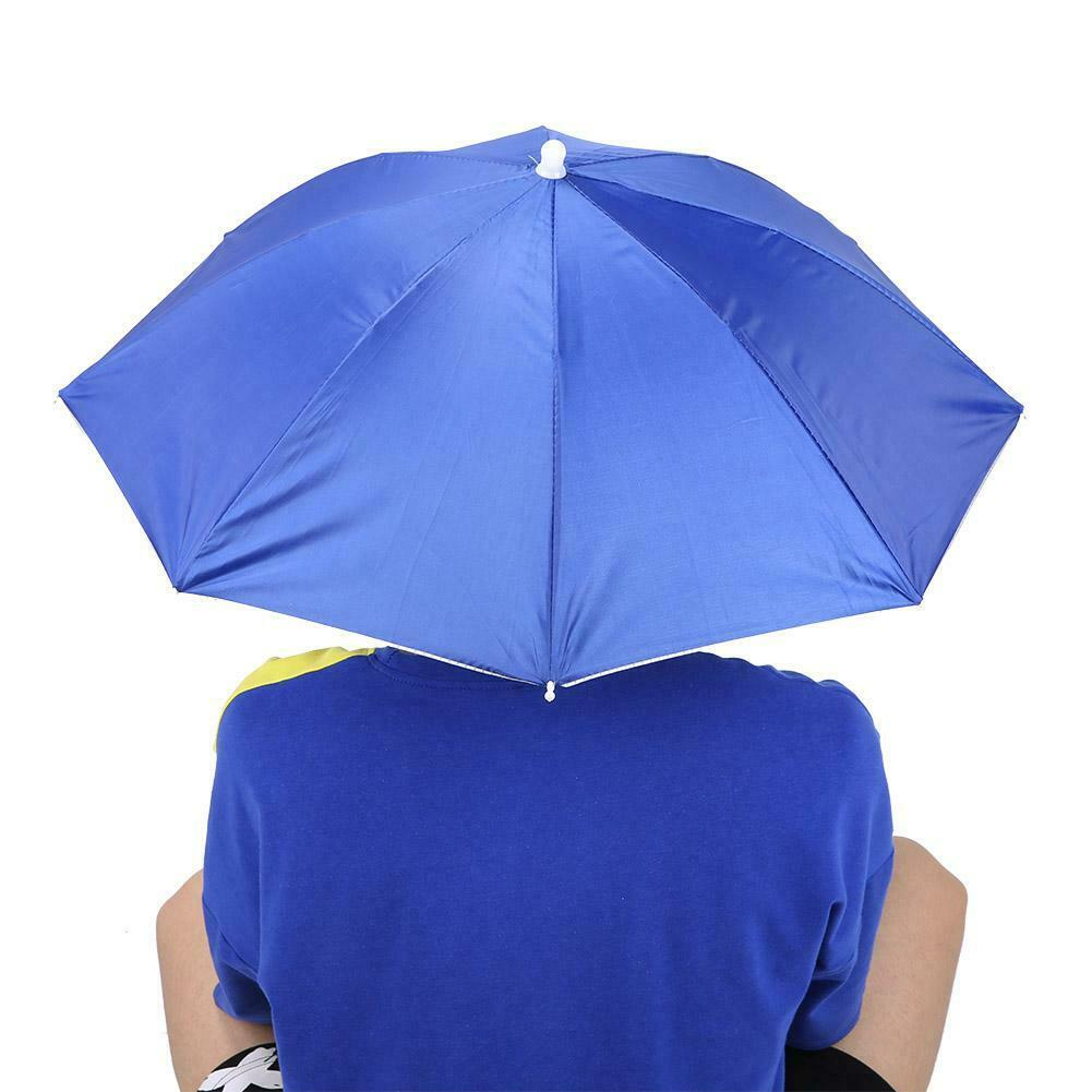 65cm Sunscreen Windproof Head-Mounted Umbrella With Folding Hat Home Use