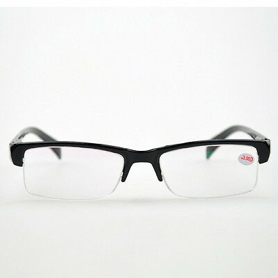 Hot Unisex Black Nearsight Myopia Half Rimless Glasses -1-1.5-2-2.5-3-3.5-4