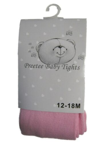 New Girls Cotton Rich Preetee Baby Tight NB-24 Months