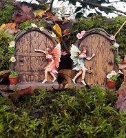 2x SPARKLE FAIRY DOOR PIXIE TREE DECORATION HOBBIT GARDEN ORNAMENT FAIRY GARDEN