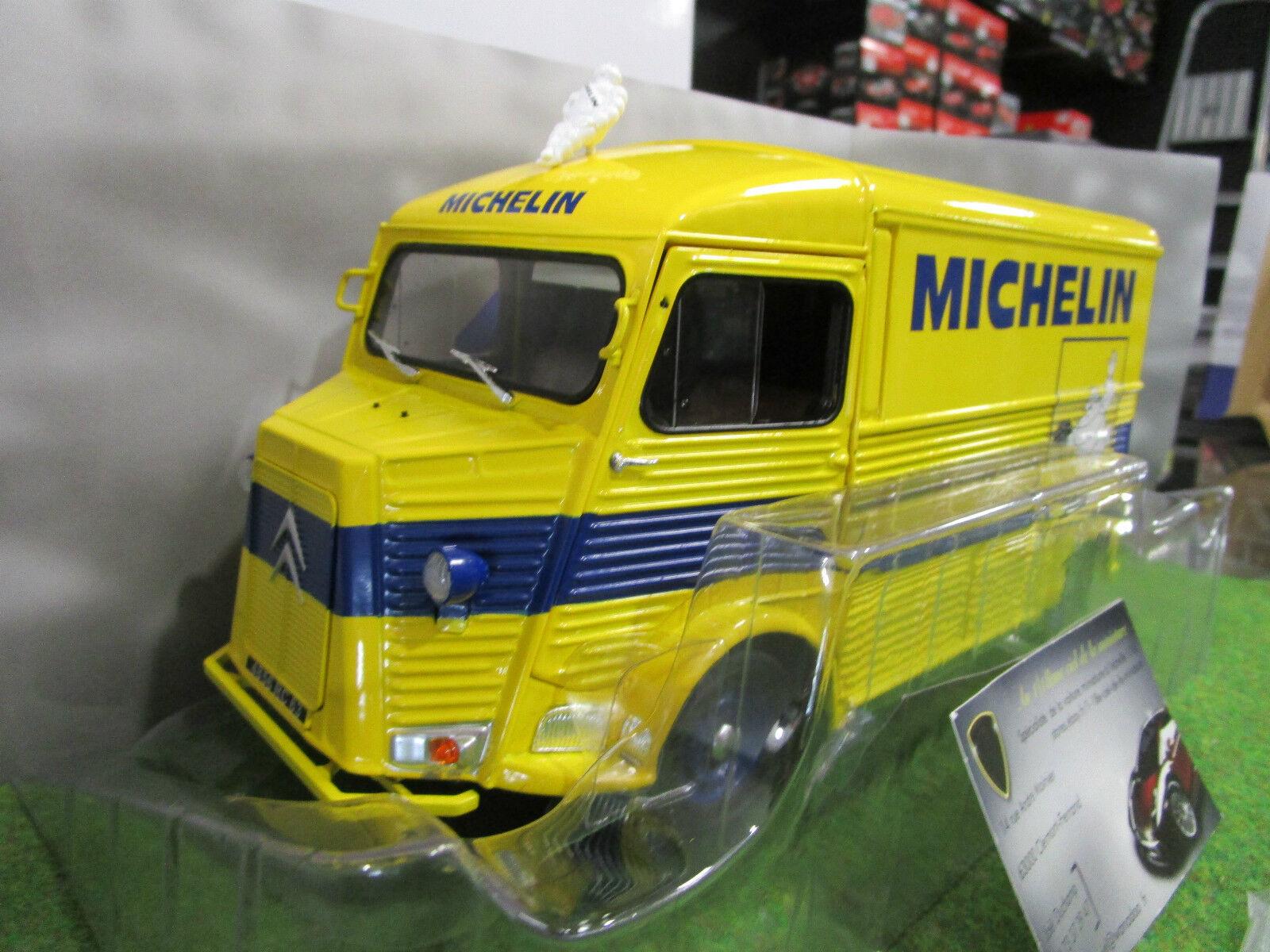 CITROEN TYPE HY MICHELIN de 1969 jaune  au 1 18 SOLIDO S1850002 voiture miniature  qualité authentique