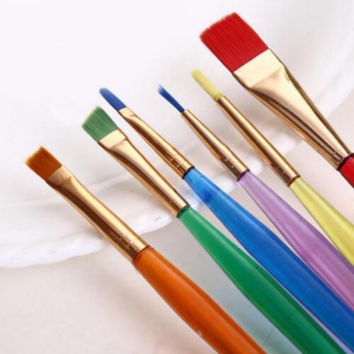 6pcs Flexible Painting Brushes Cake ating Fondant Dusting Sugar Craft