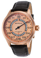 Ben & Sons Men's Arrow Quartz Stainless Steel and Leather Watch (Black)