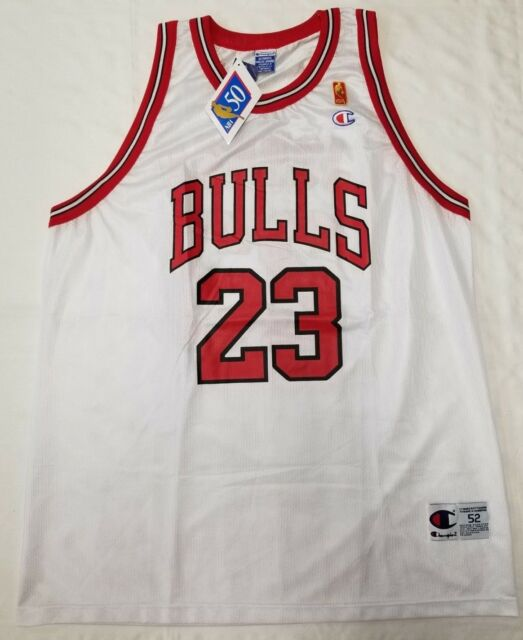 3b9cbe722 Chicago Bulls Michael Jordan Champion NBA Jersey men size 52 2XL 50th Ann.