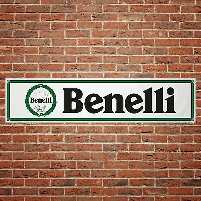 Benelli Motorcycles Banner Garage Workshop Motorcycle PVC Sign Trackside Display