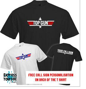TOP-GUN-T-Shirt-Classic-Maverick-Goose-Groom-STAG-PERSONALISED-CALL-SIGN