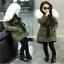UK STOCK Kids Girls Fur Hooded Jacket Padded Coat Long Thick Warm Jacket Parkas/&