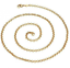Ladies-18-034-Inch-22K-Yellow-Gold-GP-Open-Chain-Link-3mm-Necklace-N44 thumbnail 1