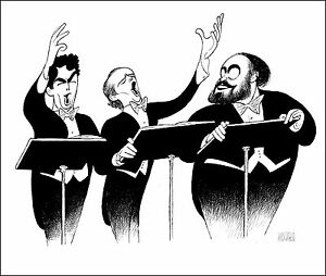 Al-Hirschfeld-039-s-THREE-TENORS-ENCORE-Hand-Signed-Limited-Edition-Lithograph
