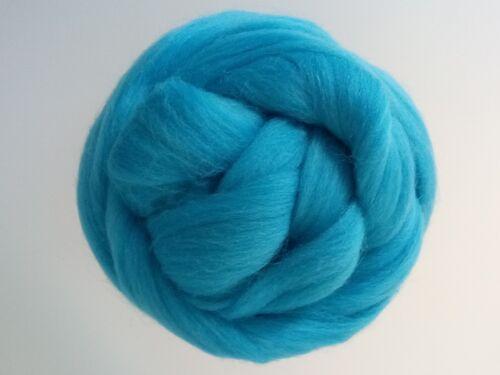 1 kg Azure Blue* 100/% Merino Wool Roving Giant Yarn Extreme Arm Knitting 100 g