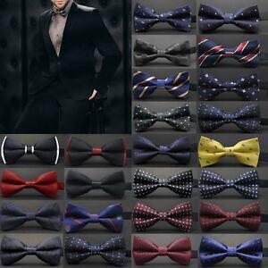 Wedding-Ties-Men-Adjustable-Satin-Tuxedo-Classic-Party-Novelty-Bow-Tie-Necktie