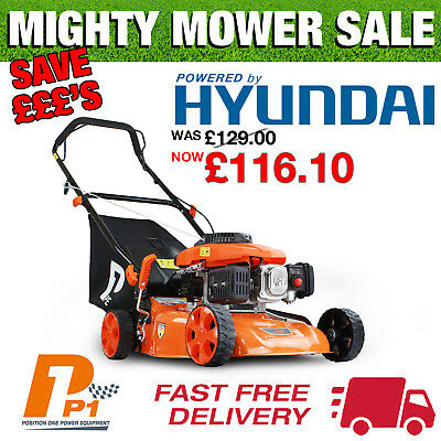 "Lawnmower 16"" 41cm 99cc Petrol Lawn Mower Powered by Hyundai P4100P"