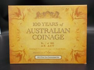 2010-100-Years-of-Australian-Coinage-4-Coin-1-UNC-Privy-Mark-Set-CBMS
