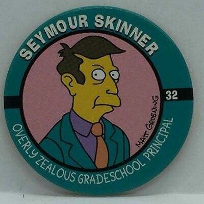 #26 Lava Man Milk Cap 1994 The Simpsons Pog Skycap
